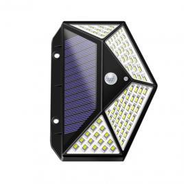 Lampa Solara pe Senzor De Miscare cu 114 de LED-uri,  raza 120 Grade, Baterie 1800 mAh Dgm