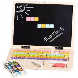 Laptop educational din lemn ecotoys