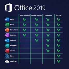 Microsoft Office 2019 Home and Business 32/64 bit Toate limbile Licenta Electronica pentru Windows
