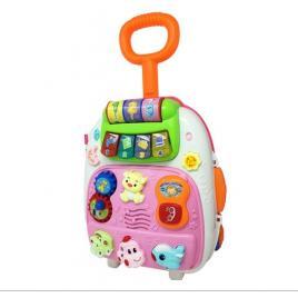Troler pentru copii cu multiple activitati, melodii, sunete si lumini