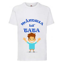 Tricou personalizat baieti Mandria lui tata 7-8 ani
