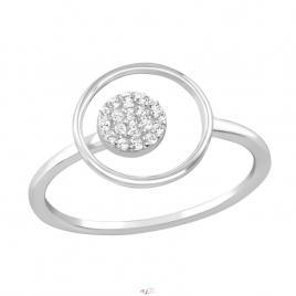 Inel din Argint 925 rotund placat cu rodiu