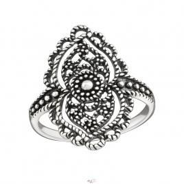 Inel din Argint 925 rundă placat cu rodiu