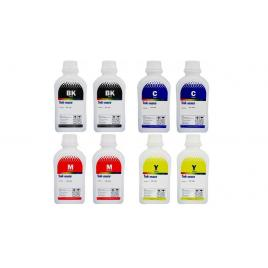Pachet flacon cerneala ink-mate compatibil brother 2x lc129xlbk negru 2x lc125xlc cyan 2x lc125xlm magenta 2x lc125xly galben 4000 ml