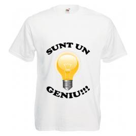 Tricou personalizat Sunt un geniu alb XXL