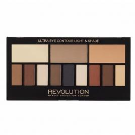 Paletă machiaj eye ultra eye contour light and shade 14 gr, makeup revolution