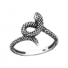 Inel din Argint 925 șarpe placat cu rodiu