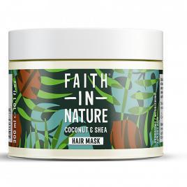 Masca naturala nutritiva cu cocos si unt de shea pentru par uscat, faith in...