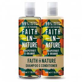 Set sampon & balsam grapefruit si portocala par normal sau gras, faith in...