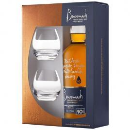 Benromach 10yo + pahare, whisky 0.7l