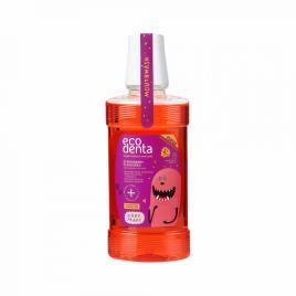 Apa de gura cu aroma de capsuni pentru copii 3+, ecodenta, 250 ml