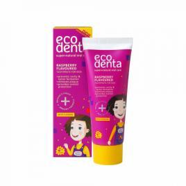 Pasta de dinti pentru copii impotriva cariilor cu aroma de zmeura, ecodenta, 75...