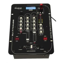Mixer 5 canale cu bpm digital si usb/sd
