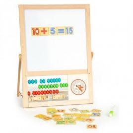 Tabla educationala cu abac si numere ecotoys mb385