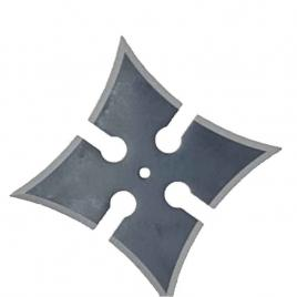 Steluta ninja pentru aruncat la tinta, neagra, 4 colturi, 6 cm