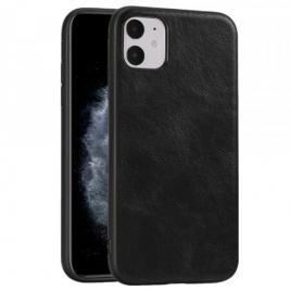 Husa telefon iphone 11 tpu din piele ecologica neagra