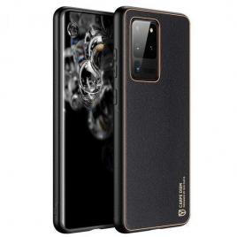 Husa telefon dux ducis samsung galaxy s20 ultra tpu din piele ecologica neagra