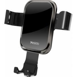 Suport Auto Pentru Telefon Yesido Elegance Black Antiamprenta
