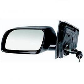 Oglinda exterioara vw polo (9n3) hatchback 04.2005-08.2009 partea stanga crom asferica, manuala fara incalzire, carcasa neagra, cu semnalizare kft auto