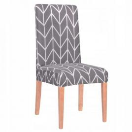 Husa scaun herringbone pentru dining/bucatarie, din spandex, culoare gri