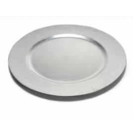 Farfurie din melamina argintie Ø 33 cm