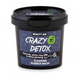 Masca faciala alginata detoxifianta, cu carbune si argila alba, crazy detox,...