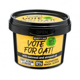 Masca faciala exfolianta cu ovaz si ulei de migdale, vote for oat, beauty jar,...