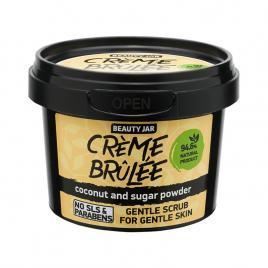 Scrub facial pentru ten sensibil cu cocos si pudra de zahar, creme brÛlÉe,...