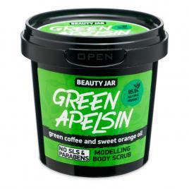 Scrub modelator pentru corp, cu cafea verde si ulei de portocala, green...