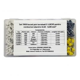 Set 1900 bucati pini terminali E-LOCKS pentru conductori electrici 050 - 600 mm²