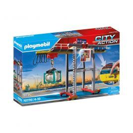 Playmobil city action - macara de marfa cu container