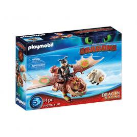 Playmobil dragons cursa dragonilor: fishlegs si meatlug