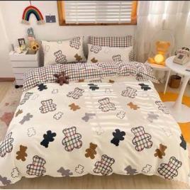 Set de lux lenjerie de pat din bumbac 100%, 6 piese
