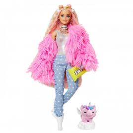 Papusa barbie extra style fluffy pinky