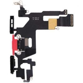 Banda flex cu conector incarcare si microfon iphone 11 rosie
