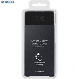 Husa de protectie samsung smart s view wallet cover pentru a32, black