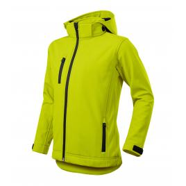 Jacheta performance softshell copii lime - 122 cm/6 ani