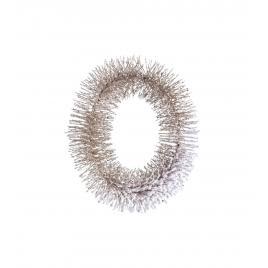 Coronita craciun aurie cu zapada artificiala Ø 25x6 cm
