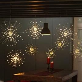 Lampa decorativa tip artificii, 100 led, 5 modele