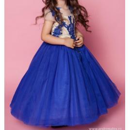 Rochita albastra de ocazie (marime disponibila: 5-6 ani)