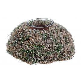 Aranjament din fibre naturale cu 1 suport lumanare wild Ø 25x13 cm