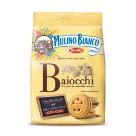 Biscuiti italieni cu crema de alune si cacao mulino bianco baiocchi 260g