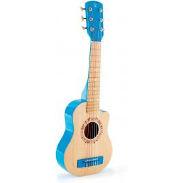 Chitara albastra din lemn hape