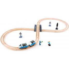 Set tren din lemn hape