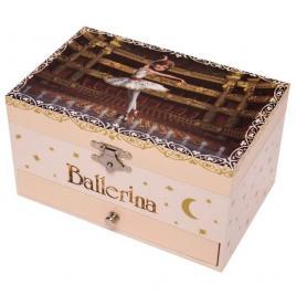 Cutie muzicala dreptunghiulara cu sertar ballerina