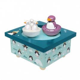 Cutie muzicala magnetica pinguini