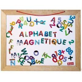 Tabla din lemn reversibila 58 x 45 cm cu litere si cifre magnetice