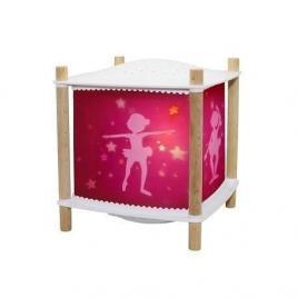 Veioza muzicala cu proiectie de stele balerina roz