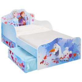 Pat pentru copii disney frozen mdf cu spatiu depozitare