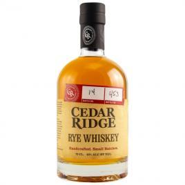 Cedar ridge rye, whisky 0.7l